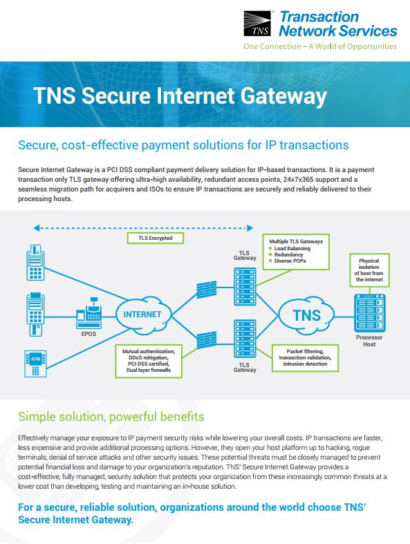 TLS / SIG Gateway Information Sheet