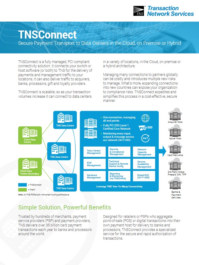 TNSConnect Information Sheet