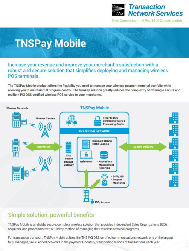 TNSPay Mobile Information Sheet