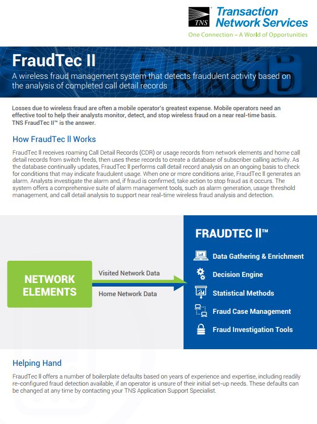 FraudTec II Information Sheet