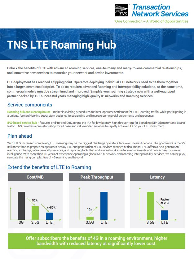 LTE Roaming Hub Information Sheet