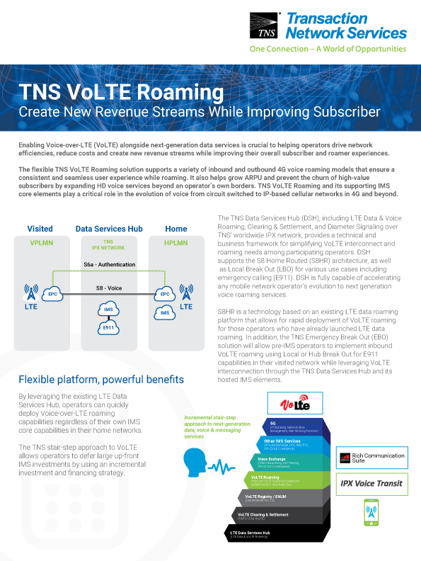 VoLTE Roaming Information Sheet