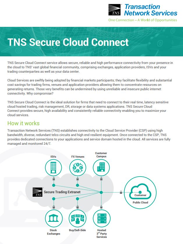 Secure Cloud Connect Information Sheet
