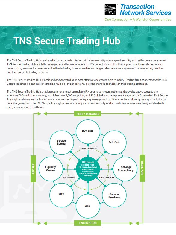 Secure Trading Hub (FIX) Information Sheet