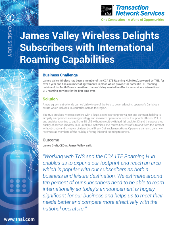 James Valley Wireless Delights Subscribers with International Roaming Capabilities