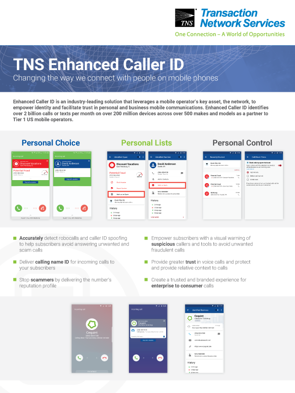 Enhanced Caller ID Information Sheet
