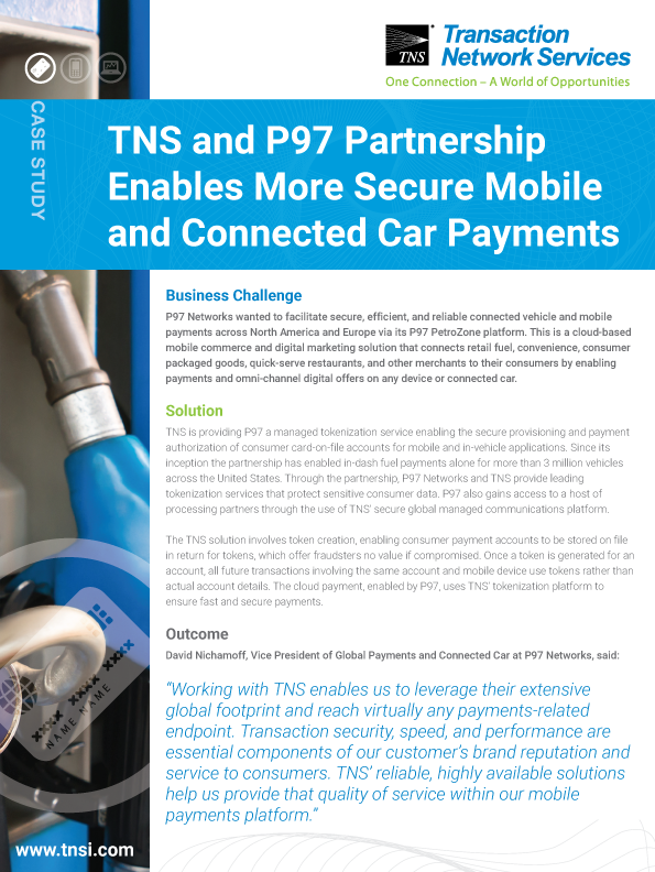 TNS and P97 Partnership Enables More Secure Mobile and