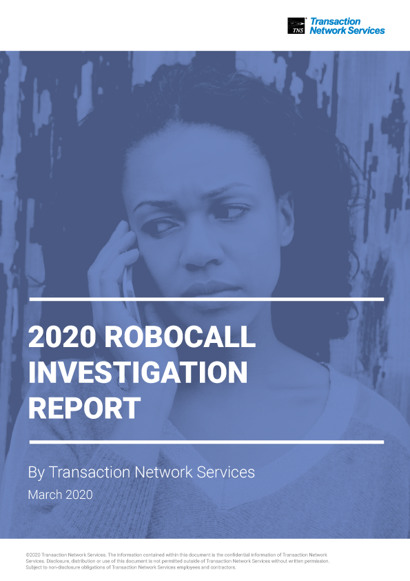 TNS Robocall Report March 2020
